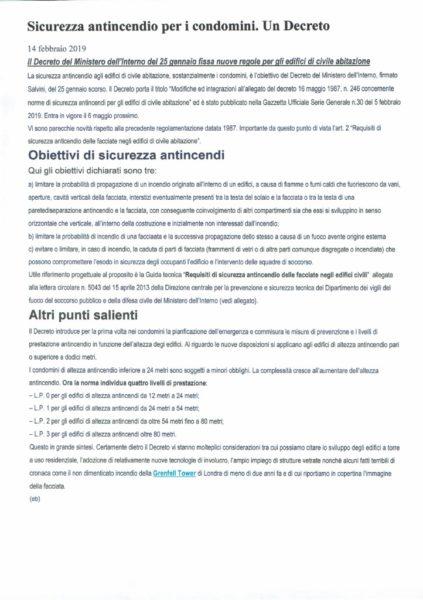 thumbnail of Commenti per Decreto di modifica norme antincendio in edifici