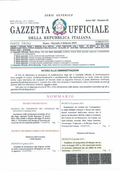 thumbnail of Decreto M.I. 25 gennaio 2019 modifiche alle norme sicurezza incendi in edifici