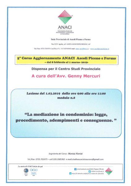 thumbnail of Relazione avv. Mercuri modulo n.8- mediazione in condominio