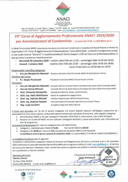 thumbnail of VII°Corso Aggiornamento ANACI -RECUPERO 2019-2020